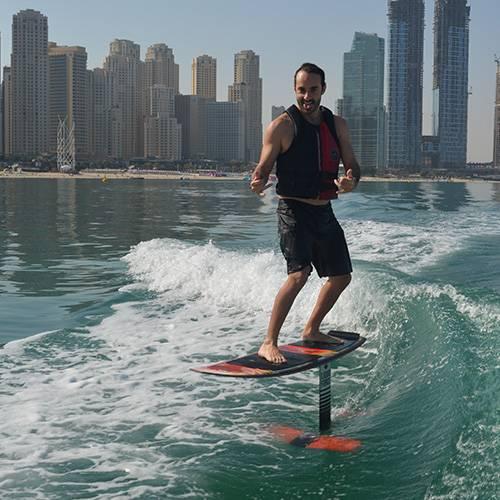Wakefoiling sea riders watersports near Dubai marina JBR